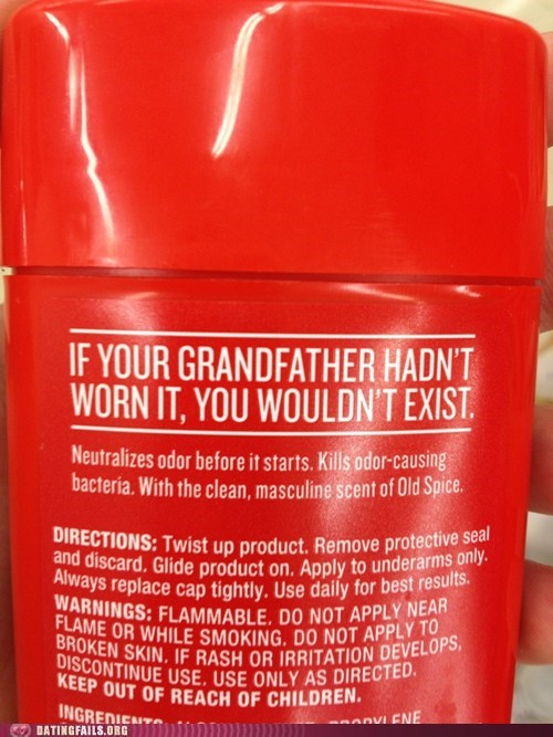 Alright Old Spice, You've Convinced Me