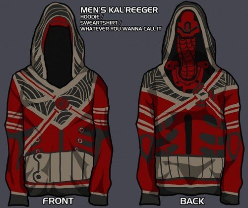 Official Mass Effect 3 Hoodies of the Day