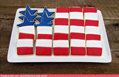 america,cookies,epicute,flag,memorial day,stars and stripes