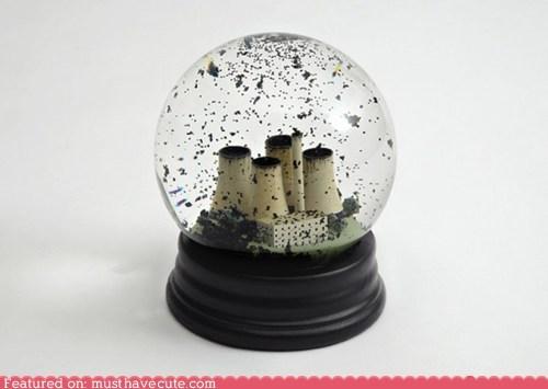 Coal Snow Globe
