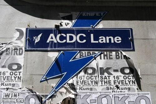 acdc,australia,metal,Music,street name,street sign