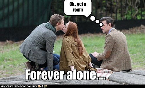 amy pond,annoyed,arthur darvill,doctor who,forever alone,get a room,karen gillan,Matt Smith,rory williams,the doctor,third wheel