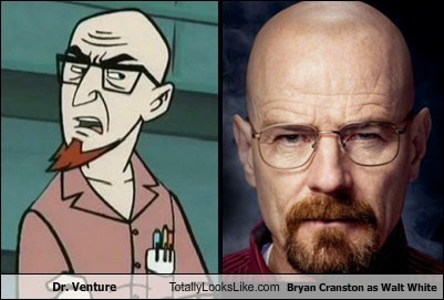 Dr. Venture Totally Looks Like Bryan Cranston as Walt White