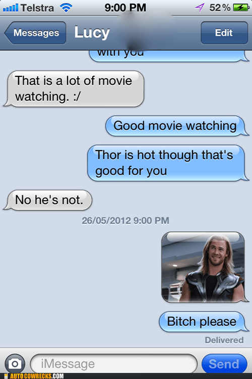 The God of Thunder Disagrees