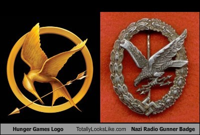 Hunger Games Logo Totally Looks Like Nazi Radio Gunner Badge