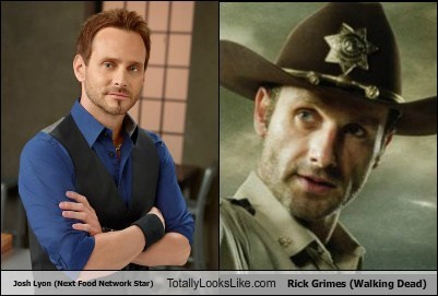 Josh Lyon (Next Food Network Star) Totally Looks Like Andrew Lincoln (Rick Grimes, Walking Dead)