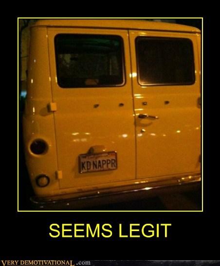 hilarious,kidnapper,license plate,seems legit,van