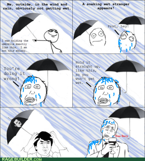 Rage Comics: The Left Half of My Face is Still Totally Dry!