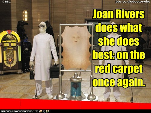 cassandra,doctor who,joan rivers,plastic surgery,red carpet,skin,the last human