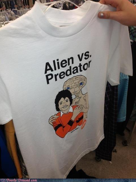 alien,Aliens,ET,michael jackson,poorly dressed,pun,T.Shirt,whoops