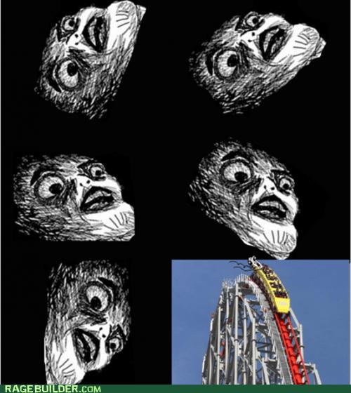 fear,Rage Comics,raisin face,roller coaster