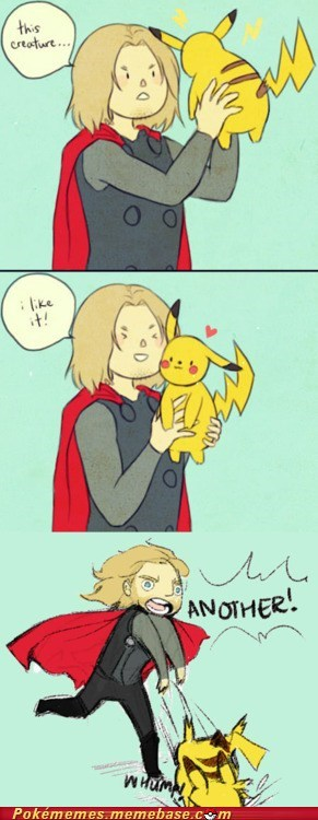 best of week,comic,ill-have-another,pikachu,Pokémemes,The Avengers,Thor
