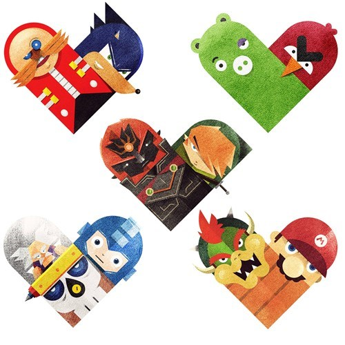 angry birds,FanArt,link,mario,sonic,video games