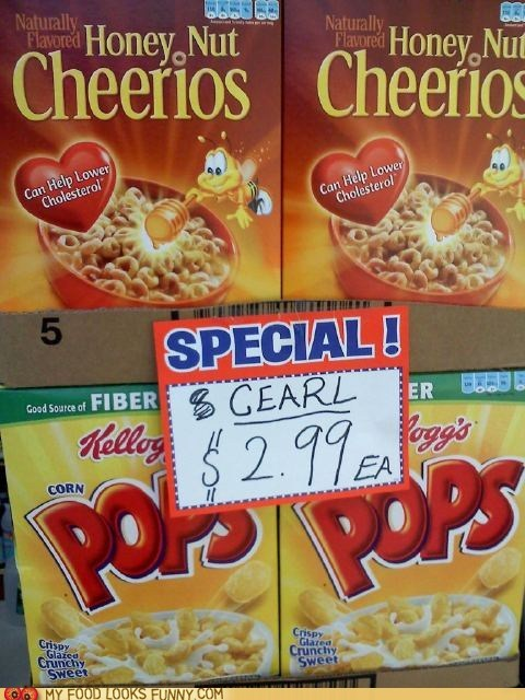 cereal,sign,spelling,store