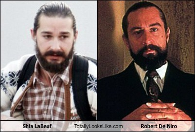 Shia LaBeouf Totally Looks Like Robert De Niro