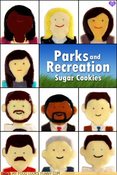 art,characters,cookies,icing,parks and recreation