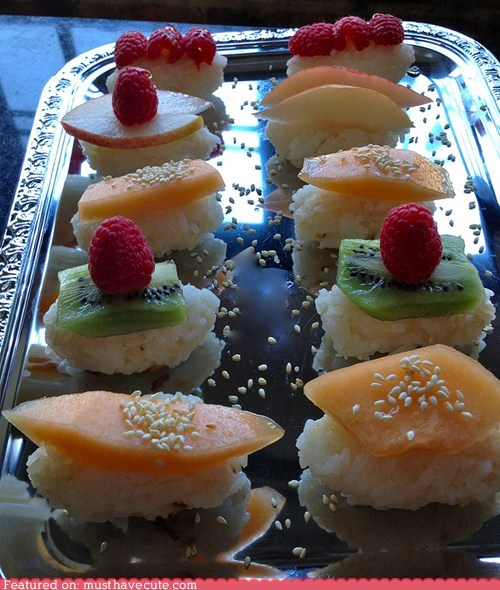 best of the week,epicute,fruit,rice,seeds,snack,sushi