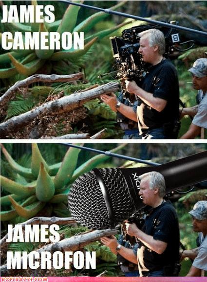 celeb,director,funny,james cameron,name,pun