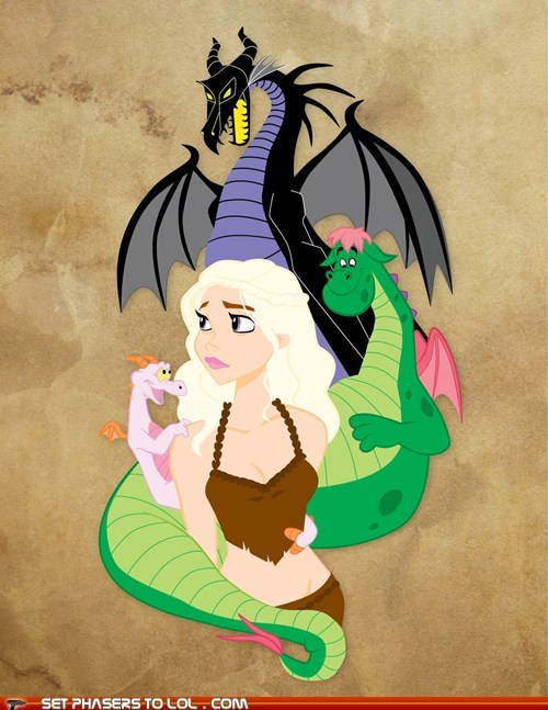 best of the week,cartoons,Daenerys Targaryen,disney,dragons,Game of Thrones,Maleficent,petes-dragon