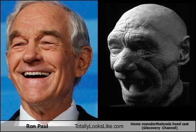 Ron Paul Totally Looks Like Homo Neanderthalensis Head Cast (Discovery  Channel)