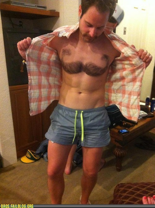 Congratulations! Your BROSTACHE Has Evolved into CHESTSTACHE!