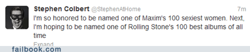 albums,Music,rolling stone,stephen colbert,tweet,twitter