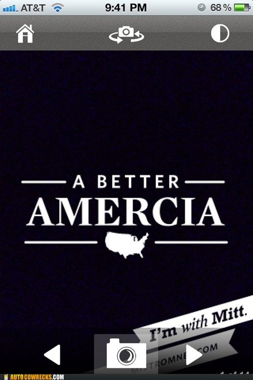 a better amercia,apps,Mitt Romney,typos