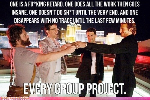 "Every Group Project in School is Basically Just ""The Hangover"""