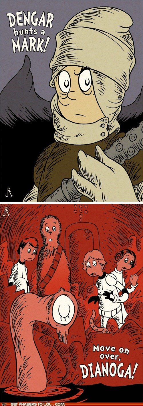 "Dr. Seuss Versions of Minor ""Star Wars"" Characters"
