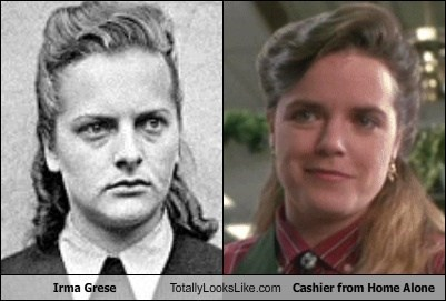 "Irma Grese Totally Looks Like Cashier From ""Home Alone"""