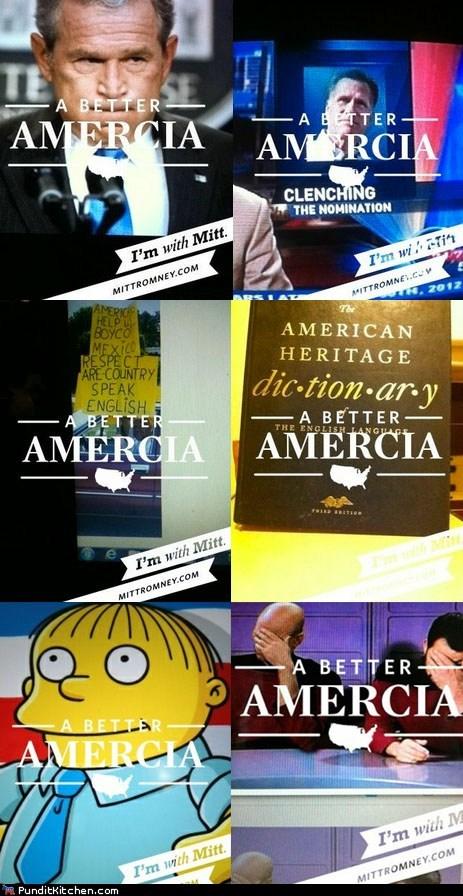 FAIL,Mitt Romney,mobile app,political pictures,typos