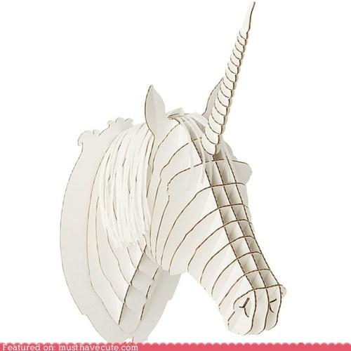 cardboard,taxidermy,unicorn
