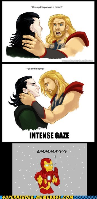 Awesome Art,gaze,loki,superheroes,Thor