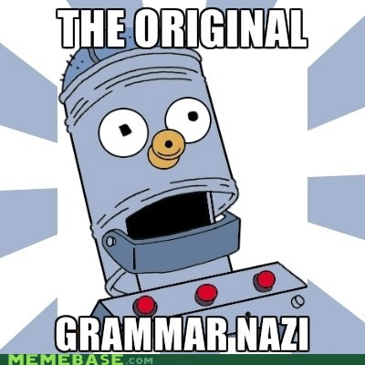 grammar nazi,linguo,Memes,mitchell and web,simpsons