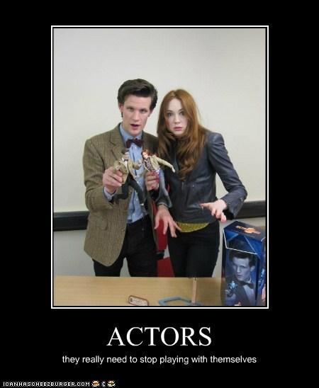 actors,amy pond,doctor who,karen gillan,Matt Smith,playing with yourself,toys