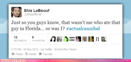 actor,celeb,fake,funny,meme,shia labeouf,tweet,twitter