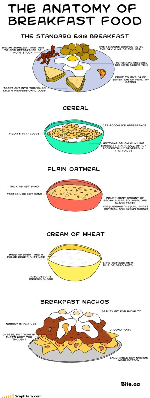 The Anatomy of Breakfast Food