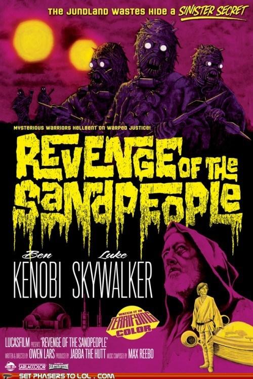 b movie,ben kenobi,horror,luke skywalker,revenge,sand people