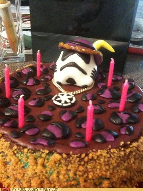 cake,fondant,leopard print,pimp,stormtrooper