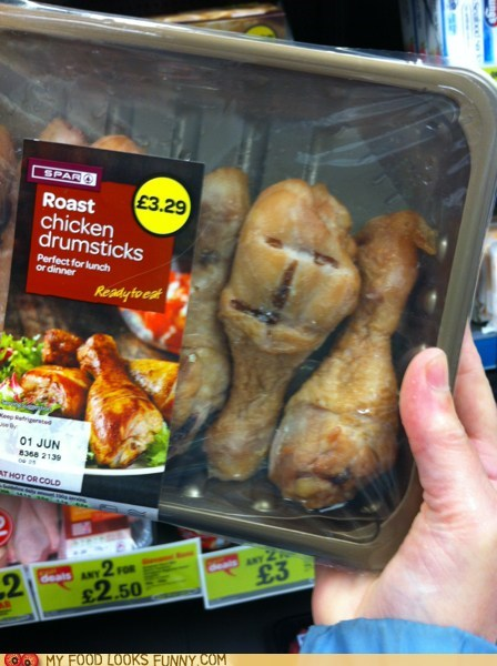 chicken,drumsticks,face,package,roasted