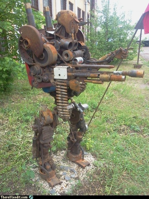 Rust-O-Tron Guards Over the Playground