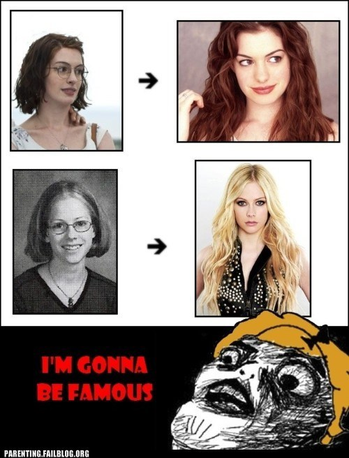 anne hathaway,avril lavinge,derpina,im-gonna-be-famous