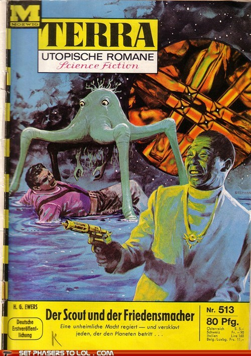 WTF Sci-Fi Book Covers: The Scout and the Peacemaker