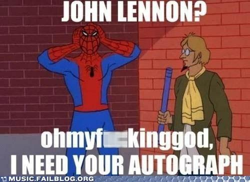 60s spider-man,beatles,john lennon,Spider-Man,the Beatles