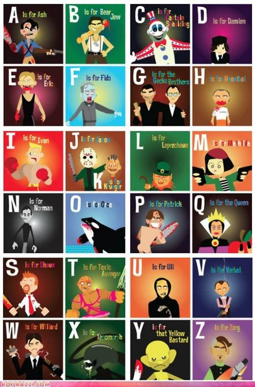 alphabet,cinema,funny,Hall of Fame,hollywood