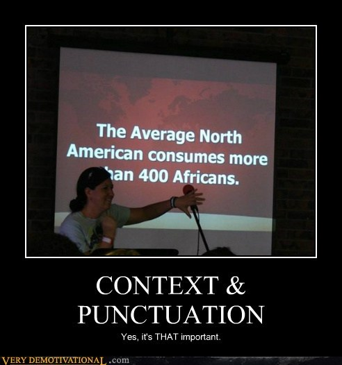 CONTEXT & PUNCTUATION