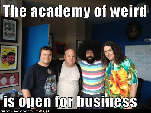 actor,celeb,funny,jack black,Kyle Gass,Music,Reggie Watts,Weird Al Yankovic