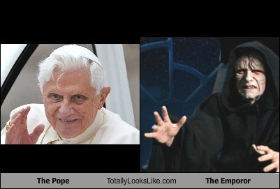 The Pope Totally Looks Like The Emporor