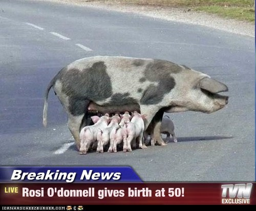 Breaking News - Rosi O'donnell gives birth at 50!