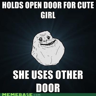cute,door,forever alone,girl,open